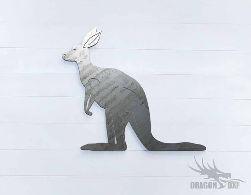 Australian Animals - Kangaroo - DXF Download