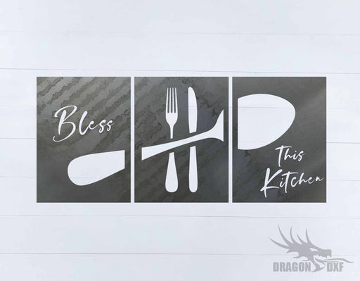Kitchen Wall Decor 27 - 3 Design -  DXF Download