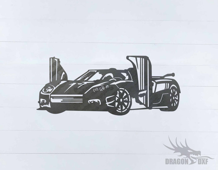 Top Car Design - Koenigsegg CCXR Trevita - DXF Download