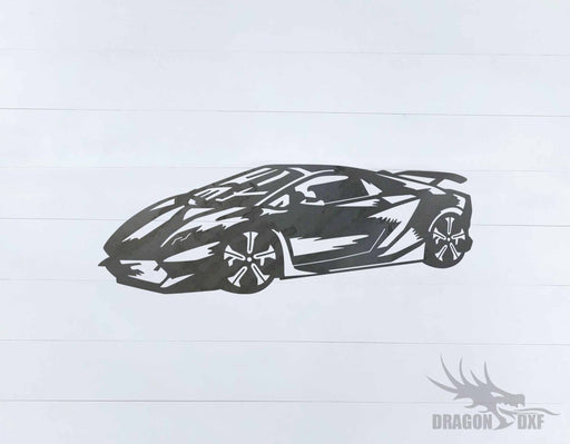 Top Car Design - Lamborghini Sesto Elemento - DXF Download