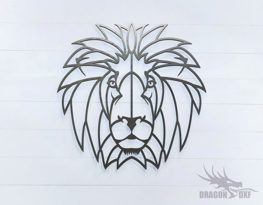 Lion - Geometric - Deco - Animals -  DXF Download