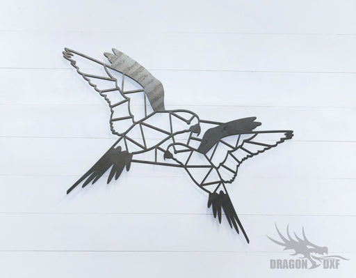Love Bird pair - Geometric - Deco - Animals -  DXF Download
