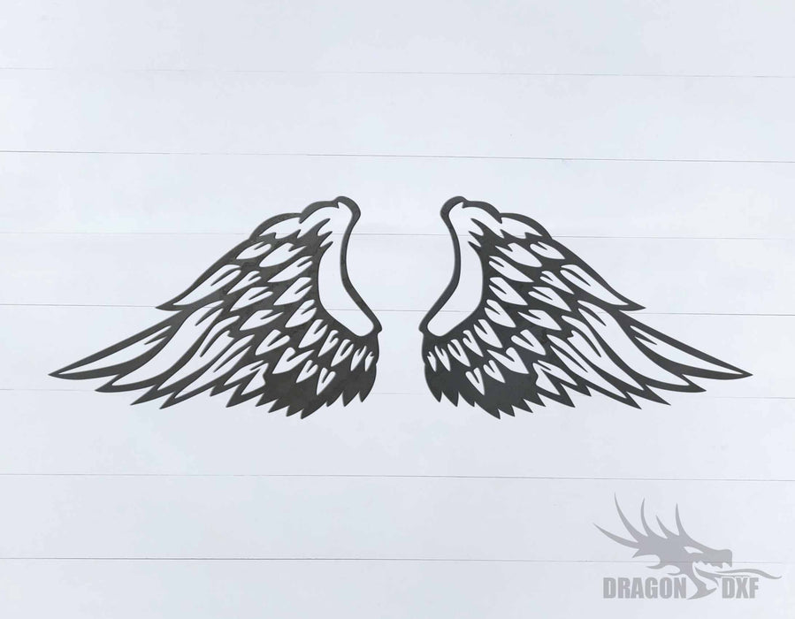 Memorial Wings Design 10 -  DXF Download