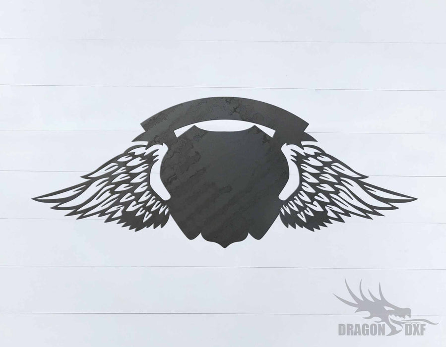 Memorial Wings Design 1 -  DXF Download