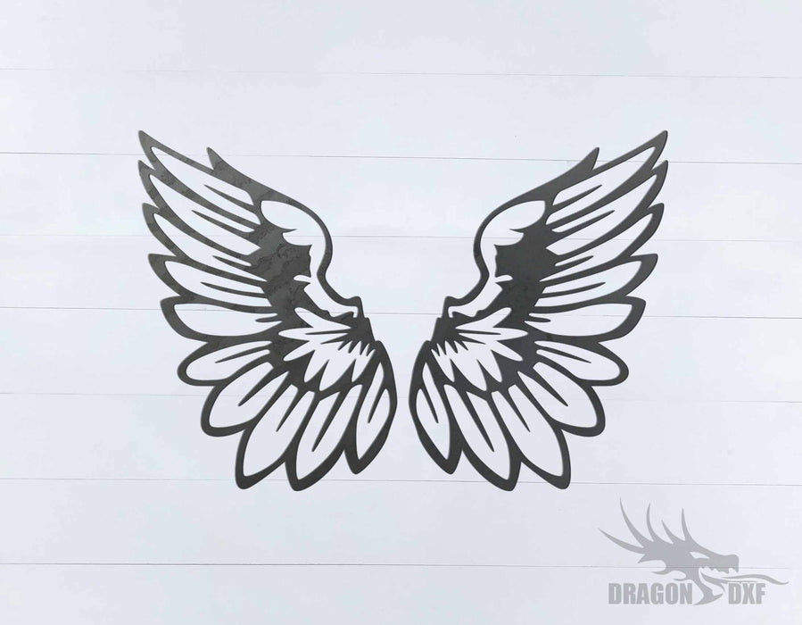 Memorial Wings Design 14 -  DXF Download
