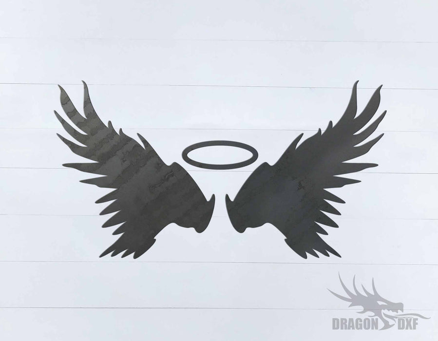 Memorial Wings Design 16 -  DXF Download
