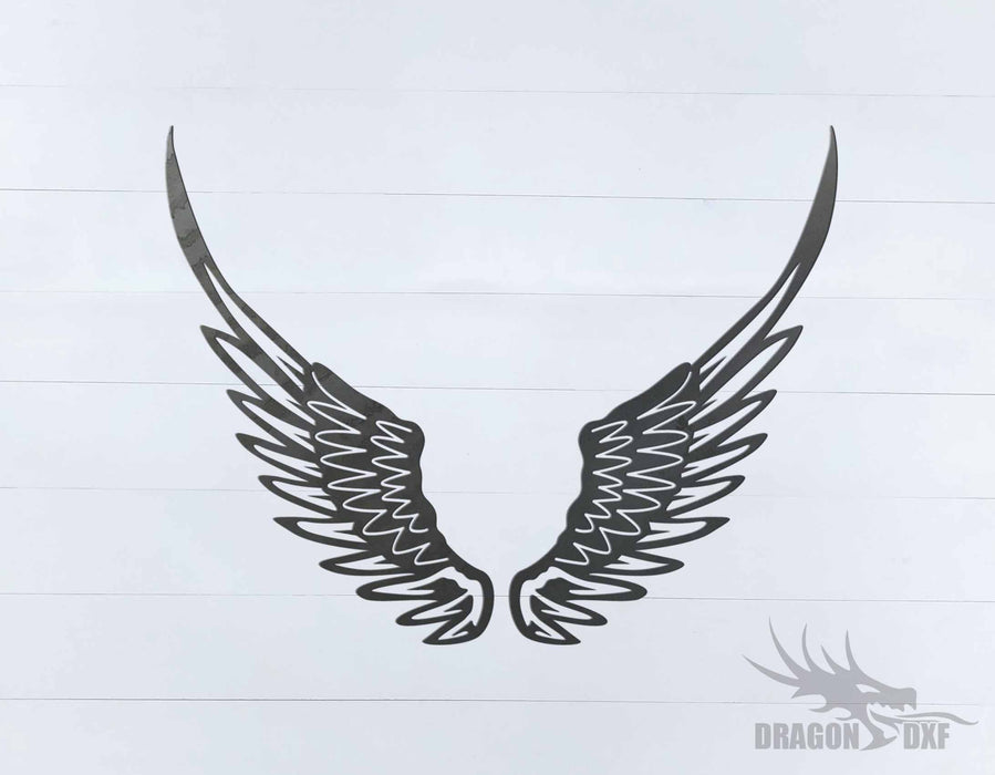 Memorial Wings Design 19 -  DXF Download
