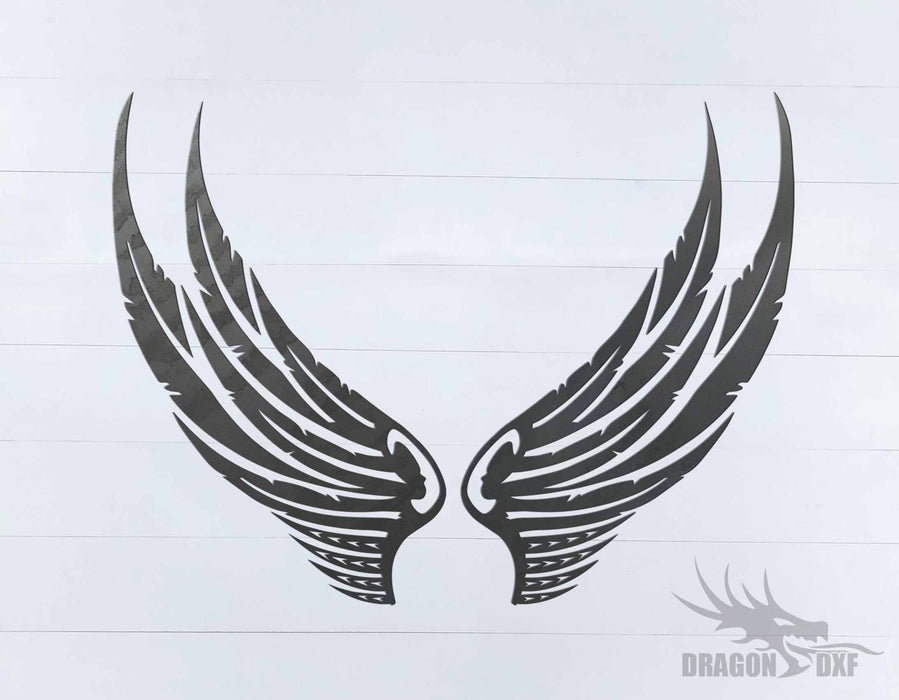 Memorial Wings Design 4 -  DXF Download