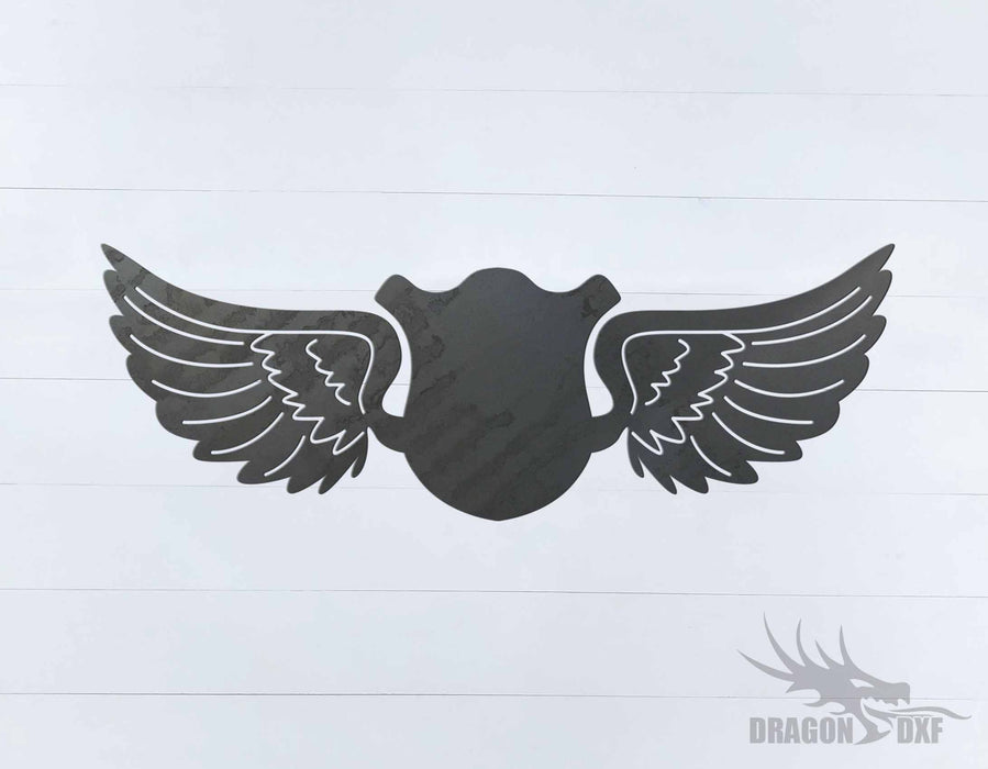 Memorial Wings Design 6 -  DXF Download