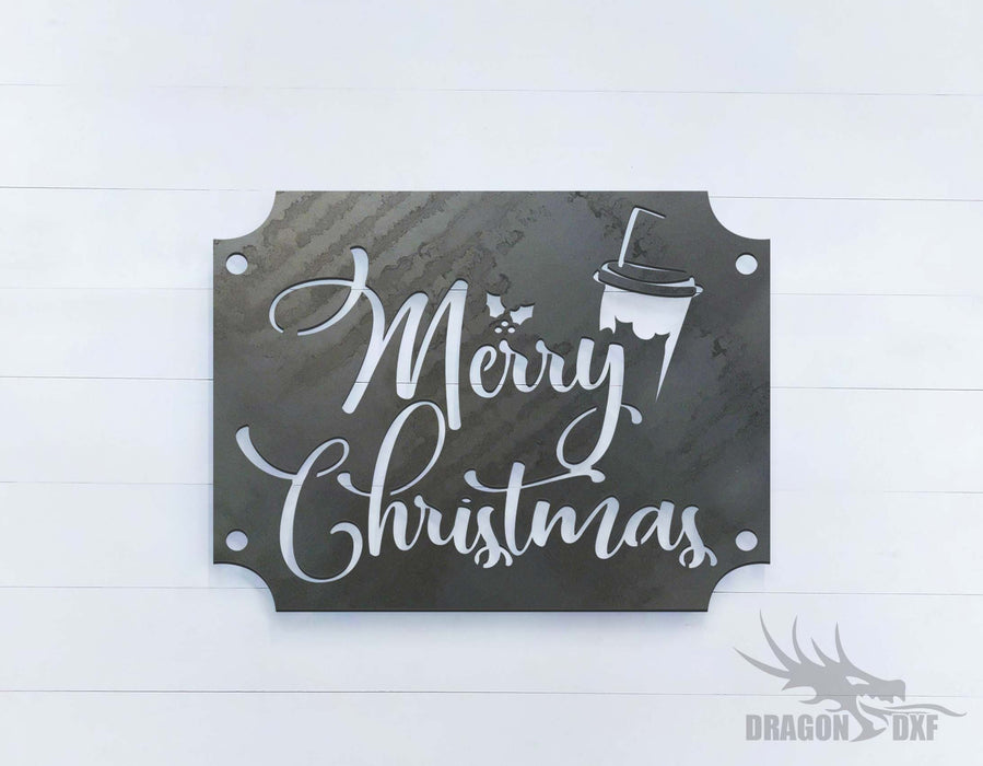 Merry Christmas- Drinks - DXF Download