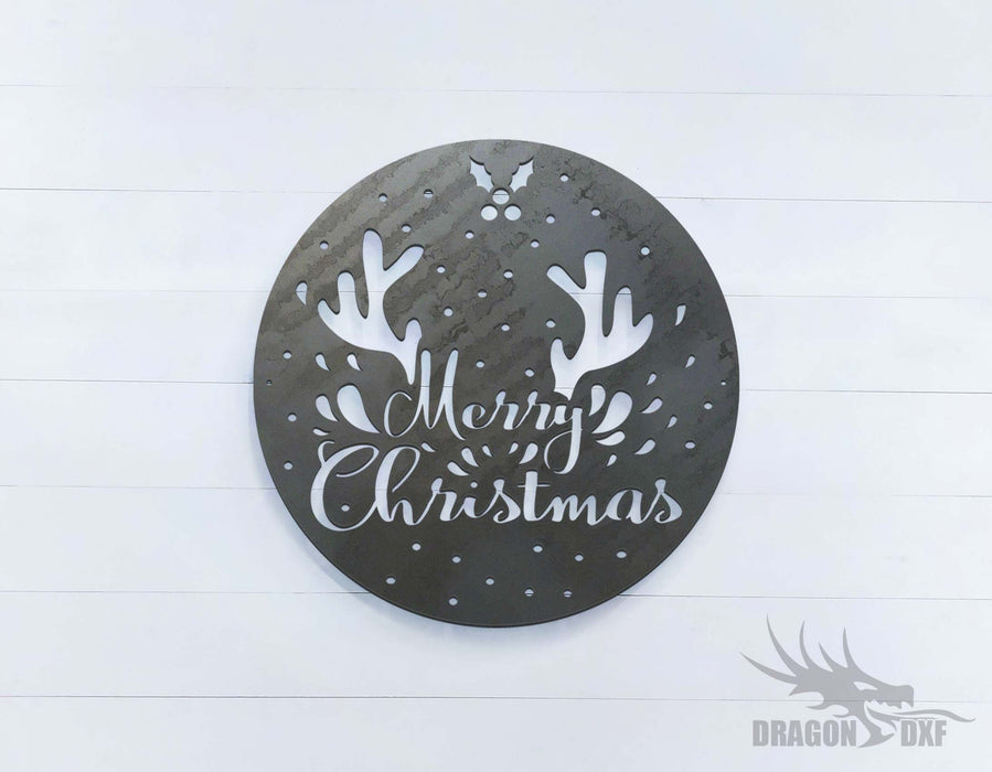 Merry Christmas- Reindeer - DXF Download