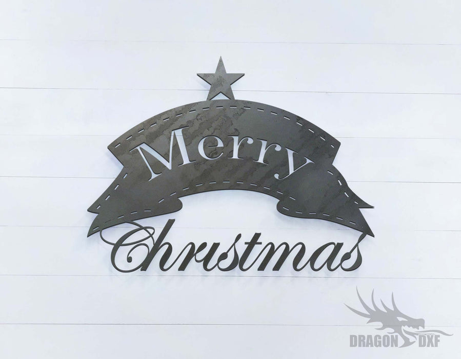 Merry Christmas- Star - DXF Download
