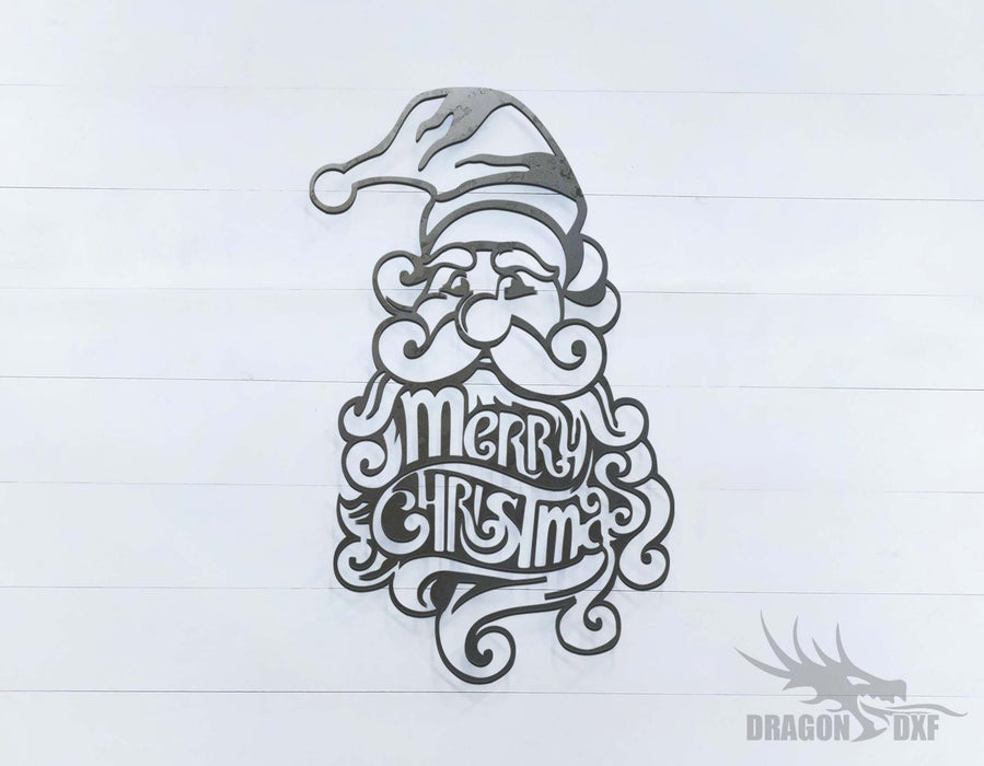 Merry Christmas Santa Claus - DXF Download