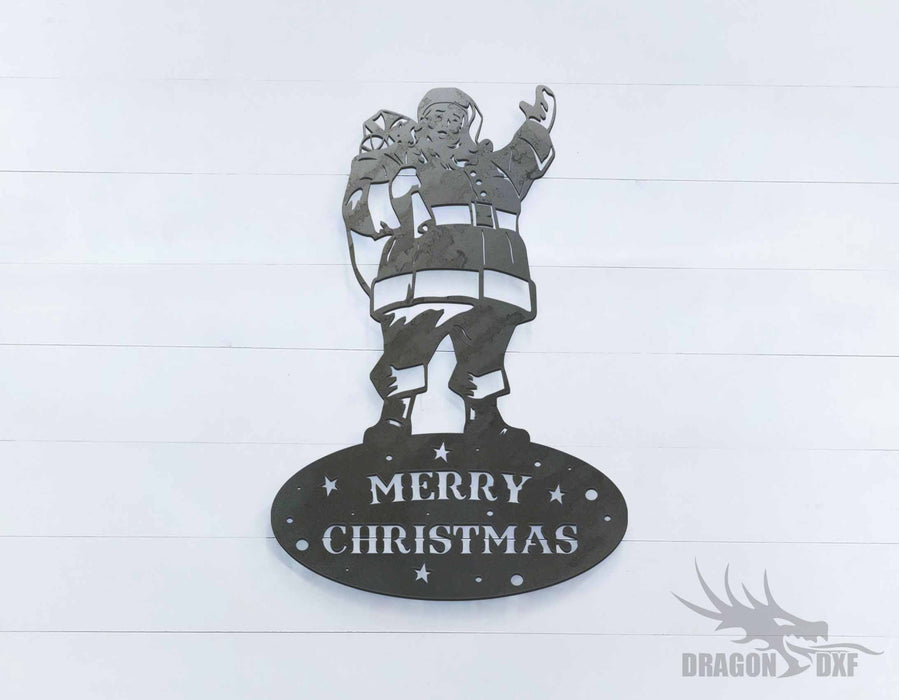 Merry Christmas Santa Claus Sign - DXF Download