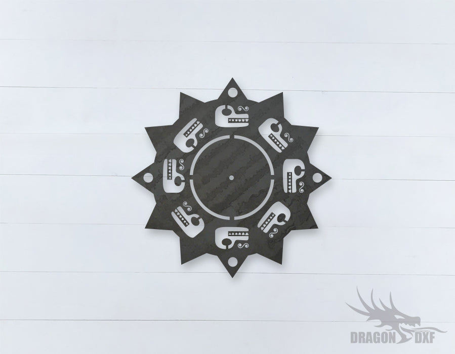 Mexican Clock Design 4  - DXF Download
