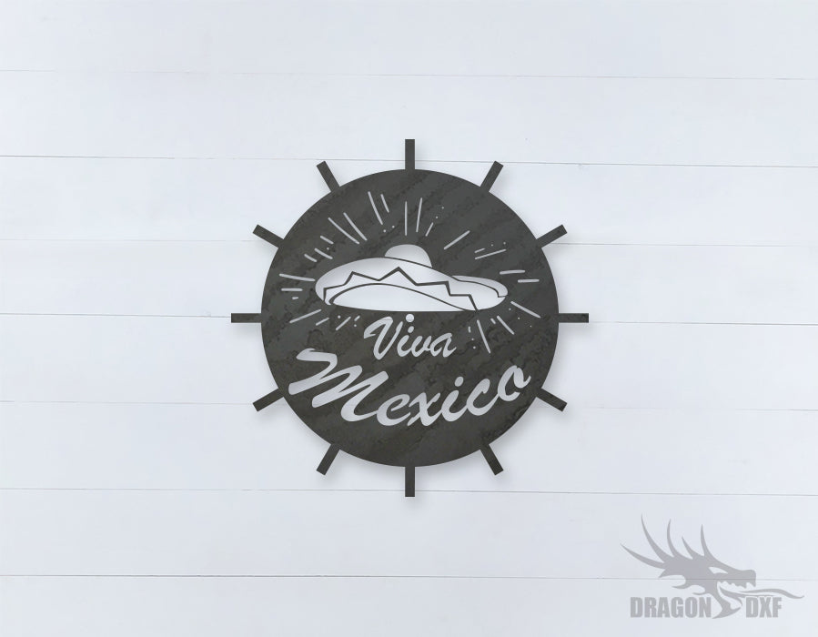 Mexican Clock Design 8  - DXF Download