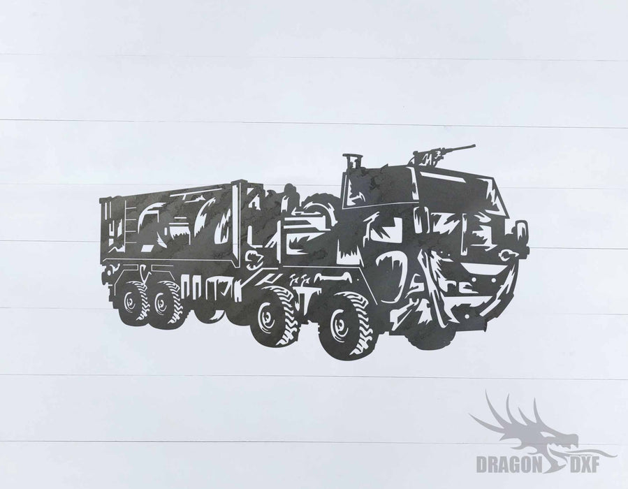 Military Vehicle Design 11 - DXF Download