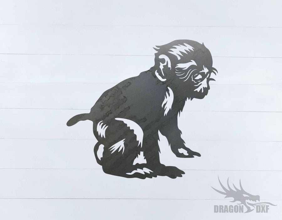 Animal - Monkey 3 Design - DXF Download