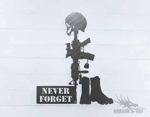 Never Forget sign - DXF Download