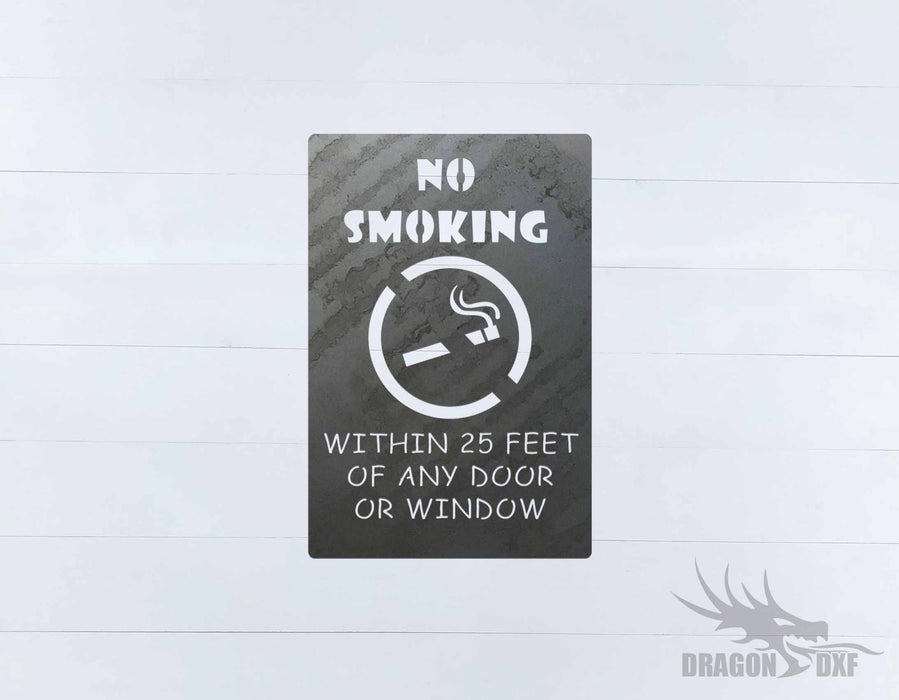 No Smoking Sign 10 - DXF Download