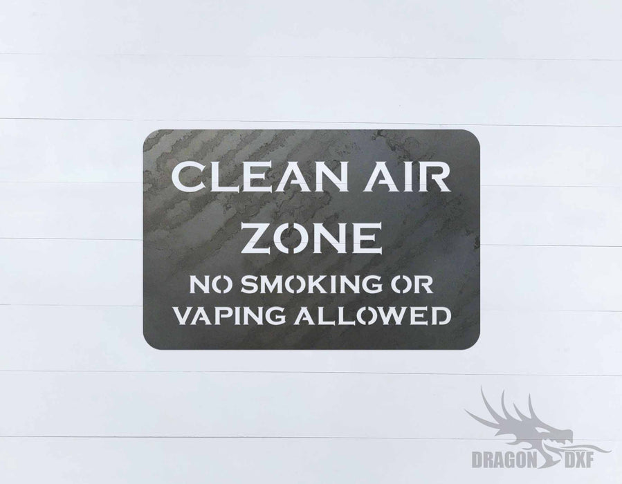 No Smoking Sign 1 - DXF Download