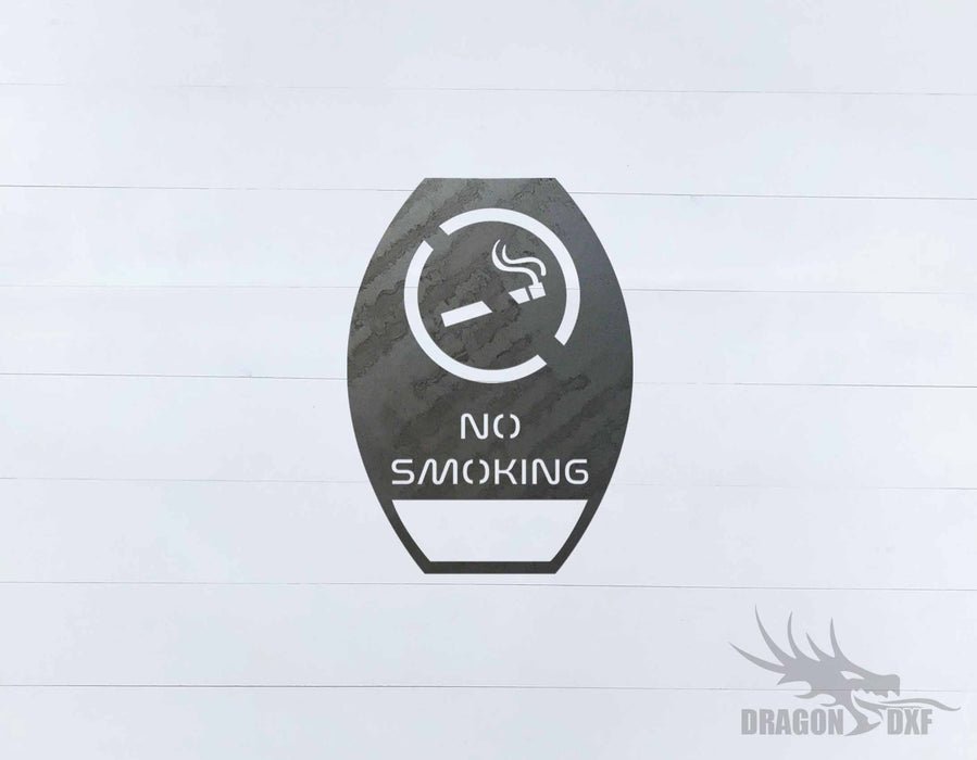 No Smoking Sign 5 - DXF Download