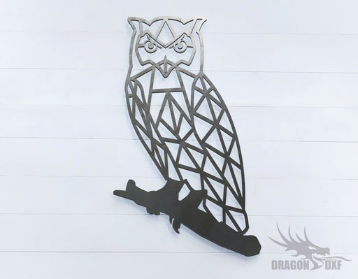Owl - Geometric - Deco - Animals -  DXF Download