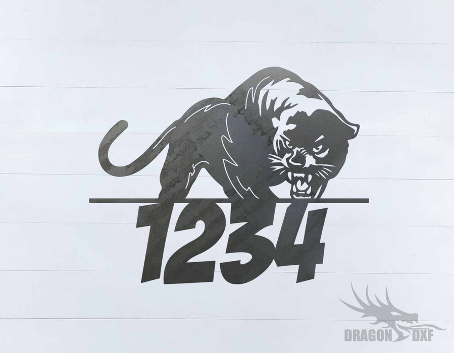 Panther Home Number -  DXF Download