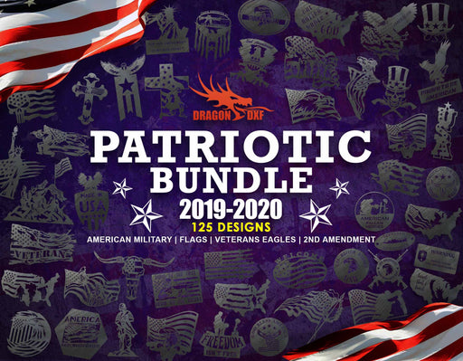Patriotic Bundle - 125 Patriotic Designs- DXF Download