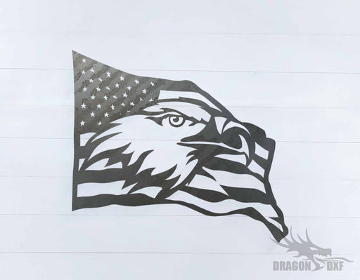 Patriotic Eagle sign - DXF Download