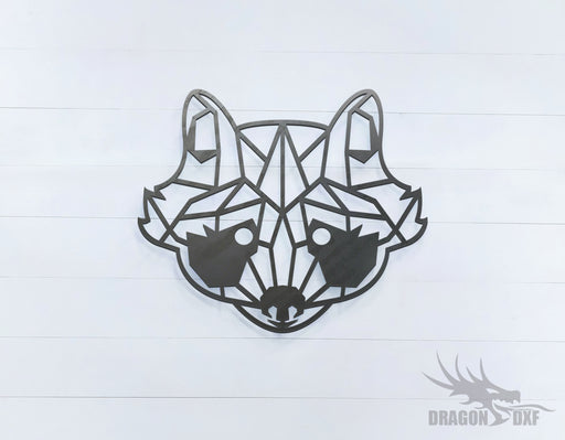 Racoon - Geometric - Deco - Animals -  DXF Download
