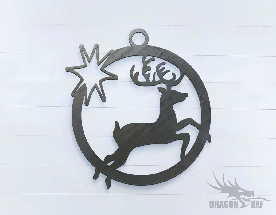 Reindeer (approximately 15 x 16 inches) - DXF Download