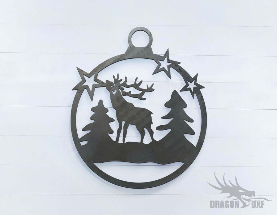 Reindeer with Stars - DXF Download