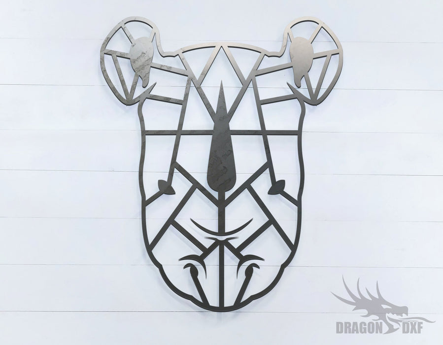 Rhino - Geometric - Deco - Animals -  DXF Download