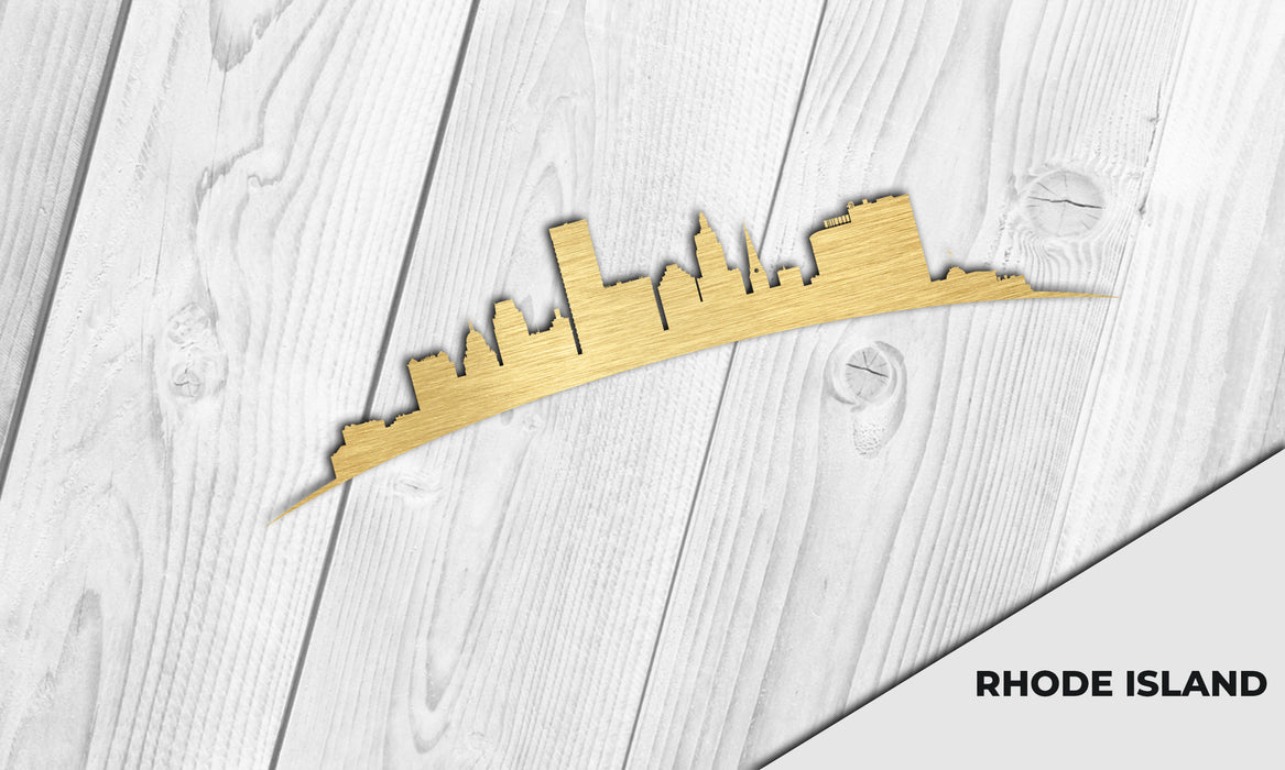 RHODE ISLAND Cityscape - Downtown Providence Silhouette - DXF Download