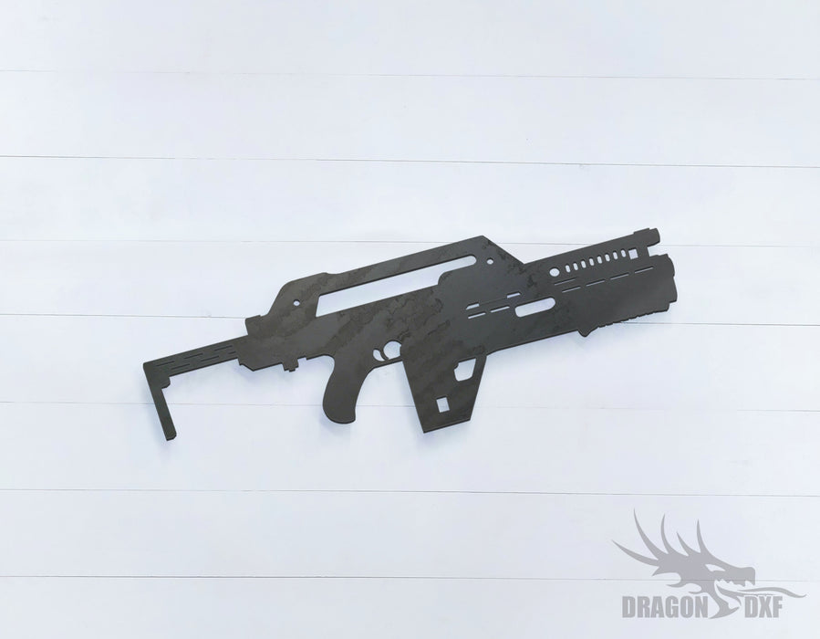 Rifle Gun-04 - DXF Download