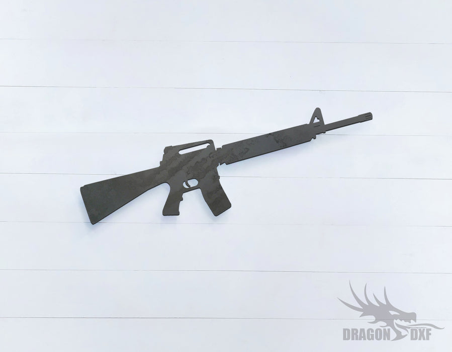Rifle Gun-07 - DXF Download