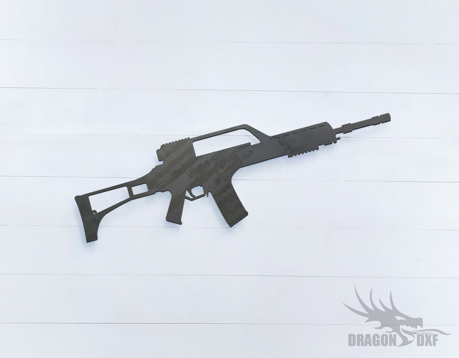 Rifle Gun-09 - DXF Download