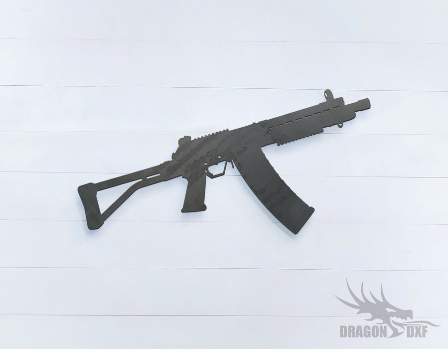 Rifle Gun-10 - DXF Download