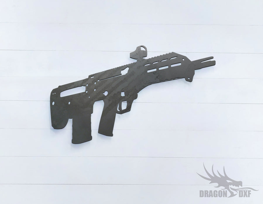 Rifle Gun-22 - DXF Download