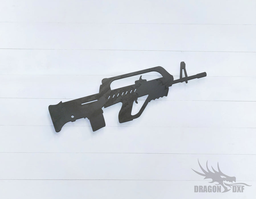 Rifle Gun-27 - DXF Download
