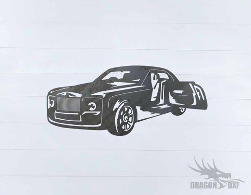 Top Car Design - Rolls Royce - DXF Download