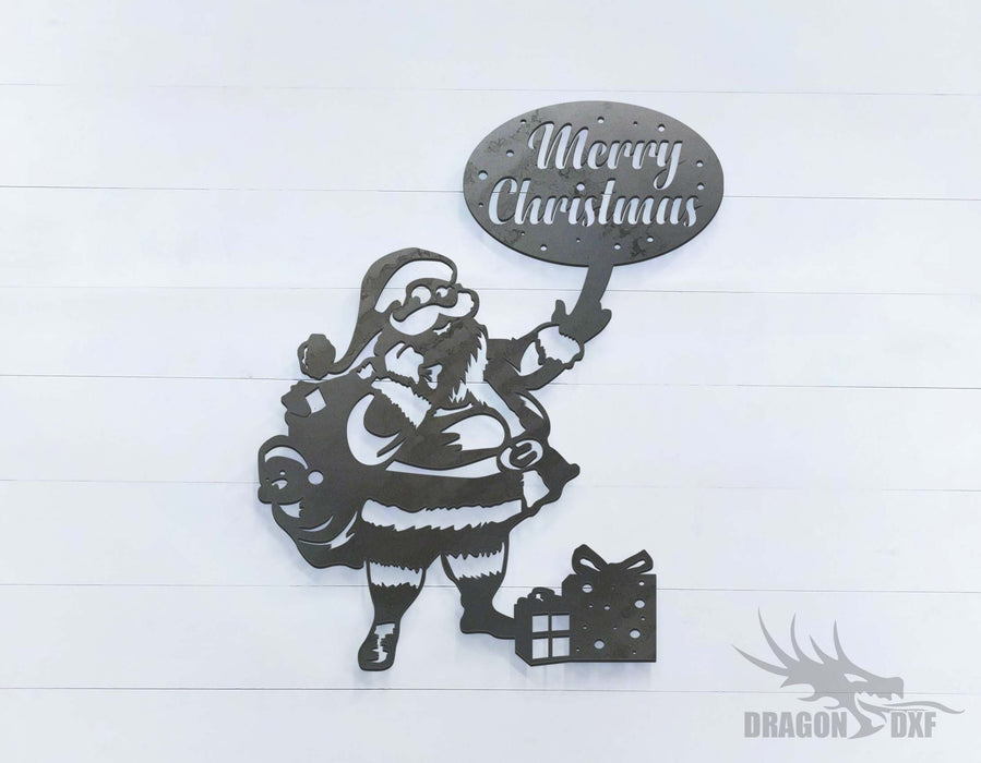 Santa (approximately 16 x 20 inches) - DXF Download