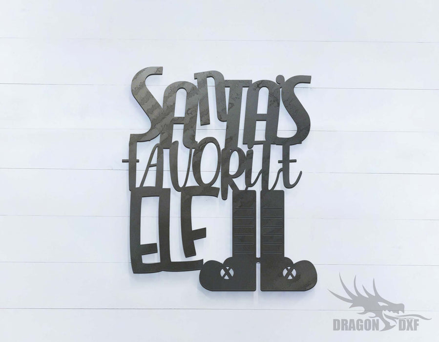 Santa's Favorite Elf - DXF Download