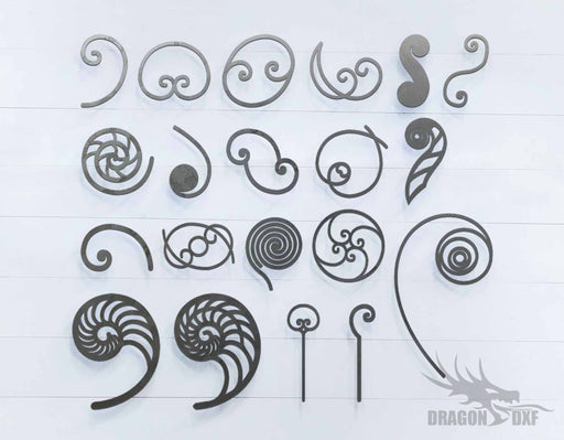 Scroll Bundle - 20 Designs - DXF Download