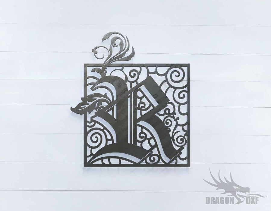 Scroll Design 2 with Initial