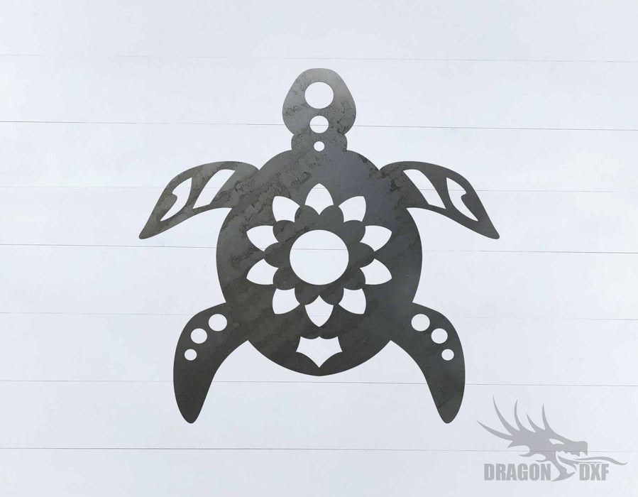 Sea Turtle 4 - DXF Download