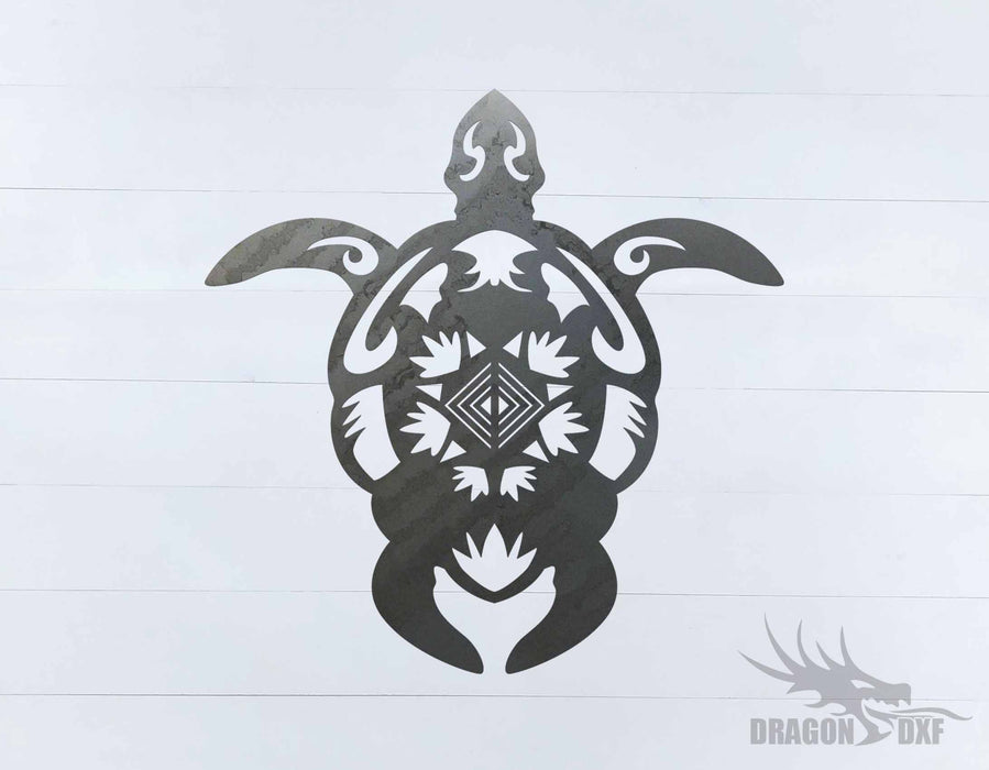 Sea Turtle 5 - DXF Download