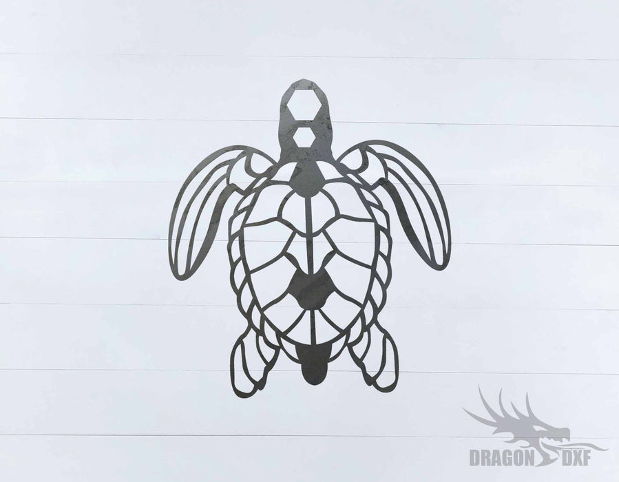 Sea Turtle 7 - DXF Download