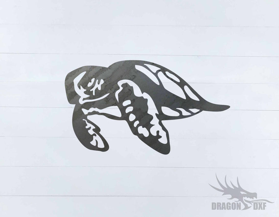 Sea Turtle 8 - DXF Download